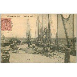 carte postale ancienne 17 FOURAS-LES-BAINS. Le Port avec Bateaux de Pêcheurs 1905