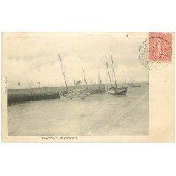 carte postale ancienne 17 FOURAS-LES-BAINS. Le Port Nord 1906