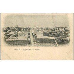 carte postale ancienne 17 FOURAS-LES-BAINS. Vue prise de la Tour Marchand. Carte pionnière vers 1900