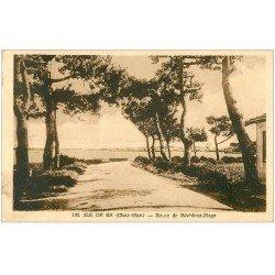 carte postale ancienne 17 ILE DE RE. Route de Rivedoux-Plage 1948