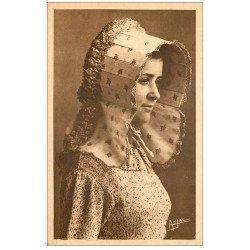 carte postale ancienne 17 ILE D'OLERON. Kissnot coiffe Oléronnaise