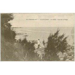 carte postale ancienne 17 ILE D'OLERON. La Brée. Vue sur la Plage 1923