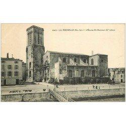 carte postale ancienne 17 LA ROCHELLE. Eglise Saint-Sauveur . Proux Afficheur Municipal