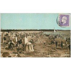 carte postale ancienne 17 LA ROCHELLE. La Plage vers 1938