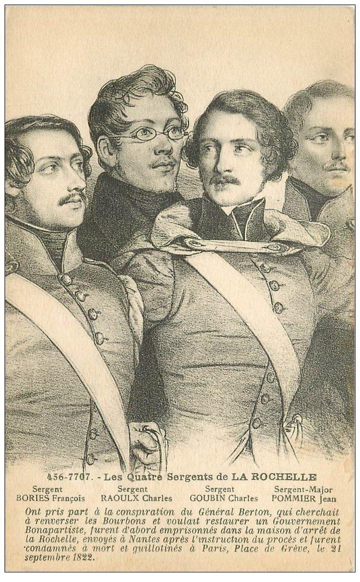 carte postale ancienne 17 LA ROCHELLE. Les Quatre Sergents