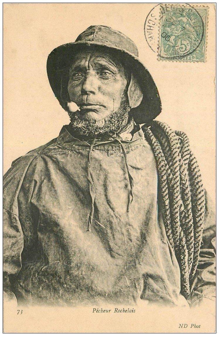 carte postale ancienne 17 LA ROCHELLE. Pêcheur Rochelais. Poissons et Crustacés 1906