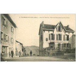 carte postale ancienne 03 CHATELMONTAGNE. Hôtel des Touristes Place du Commerce