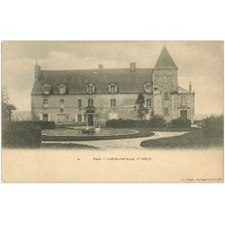 carte postale ancienne 17 PONS. Hôtel de Ville et Cygnes vers 1900
