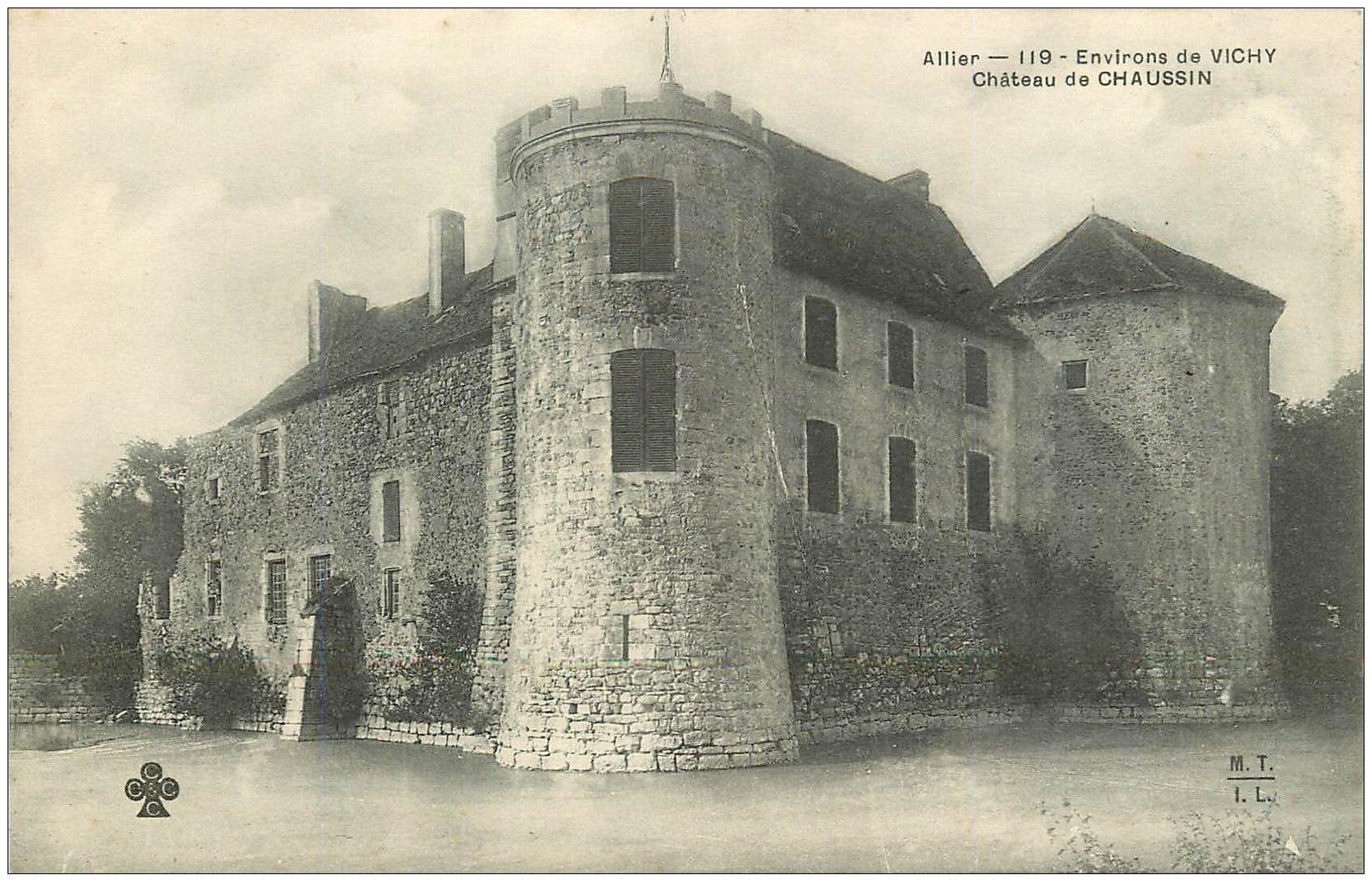 carte postale ancienne 03 CHAUSSIN. Le Château