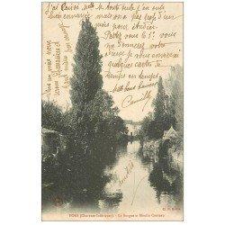 carte postale ancienne 17 PONS. La Seugne et Moulin Conteau 1906