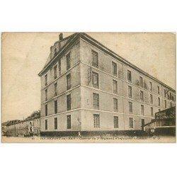 carte postale ancienne 17 ROCHEFORT-SUR-MER. Caserne Infanterie Coloniale. Café de l'Avenir