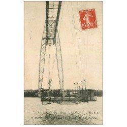 carte postale ancienne 17 ROCHEFORT-SUR-MER. La Nacelle du Transbordeur en marche 1912