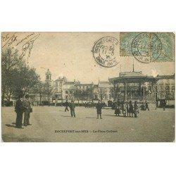 carte postale ancienne 17 ROCHEFORT-SUR-MER. La Place Colbert 1905