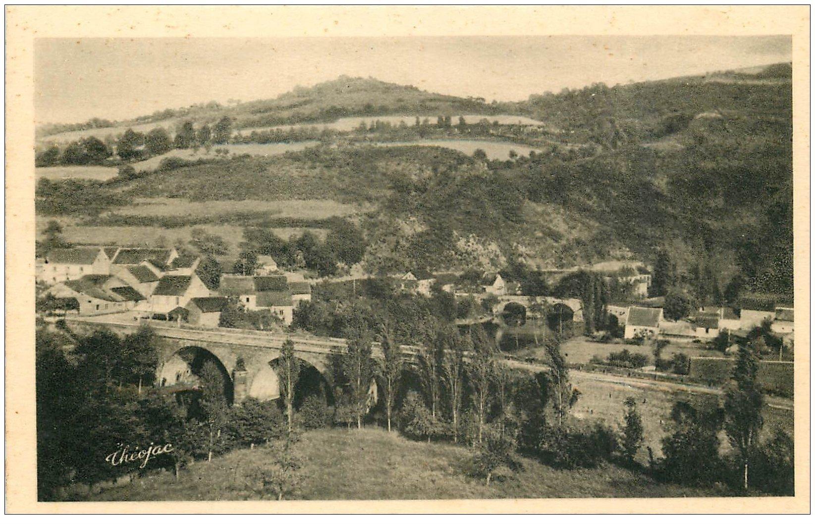carte postale ancienne 03 CHOUVIGNY. Deux Ponts de Ménat Gorges de la Sioule