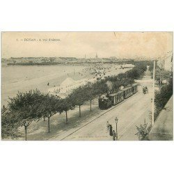 carte postale ancienne 17 ROYAN. A vol d'oiseau Train Tramway