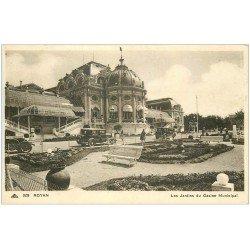 carte postale ancienne 17 ROYAN. Jardins du Casino Municipal 1938. Voitures anciennes
