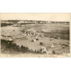 carte postale ancienne 17 ROYAN. La Grande Conche et Boulevard Garnier vers 1919