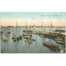 carte postale ancienne 17 ROYAN. Le Port de l'ancienne Jetée 1908 (fine plissure coin droit)...
