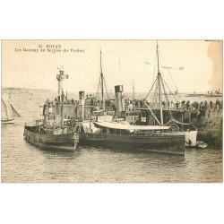 carte postale ancienne 17 ROYAN. Les Bateaux du Service du Verdon 1928