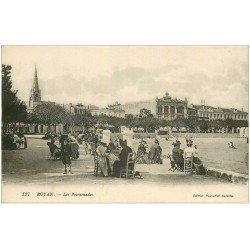 carte postale ancienne 17 ROYAN. Les Promenades