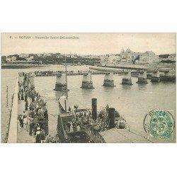 carte postale ancienne 17 ROYAN. Nouvelle Jetée-Débarcadère 1907