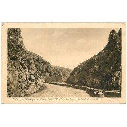 carte postale ancienne 03 CHOUVIGNY. Route Gorges de la Sioule 1945