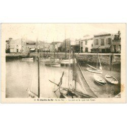 carte postale ancienne 17 SAINT-MARTIN-DE-RE. Port et Quai Job Foran 1946