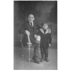 carte postale ancienne 03 COMMENTRY. Carte Photo Enfant 1924. Equinet photographe à Commentry rue J. Jaurès