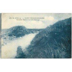 carte postale ancienne 17 SAINT-TROJAN-LES-BAINS. Grandes Dunes à la Côte Sauvage