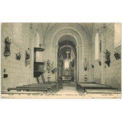 carte postale ancienne 18 AUGY-SUR-L'AUBOIS. Intérieur de l'Eglise