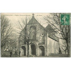 carte postale ancienne 18 AVORD. L'Eglise 1912