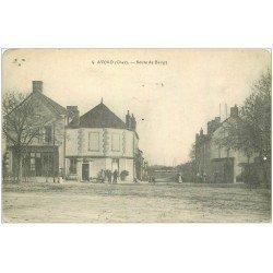 carte postale ancienne 18 AVORD. Route de Baugy 1915. Coins arrondis