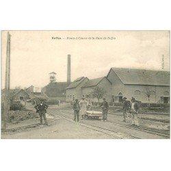 carte postale ancienne 18 BEFFES. Fours à Chaux de la Gare de Beffes