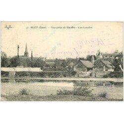 carte postale ancienne 18 BLET. Les Lavoirs 1932 vue prise du Gouffre