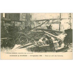 carte postale ancienne 18 BOURGES. Incendie 1928. Un coin des Galeries