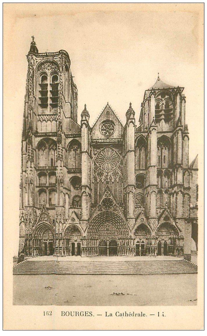 carte postale ancienne 18 BOURGES. La Cathédrale LL 162