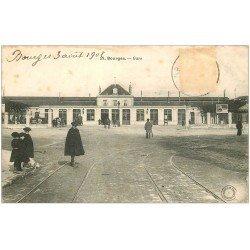 carte postale ancienne 18 BOURGES. La Gare 1907 (en état)...