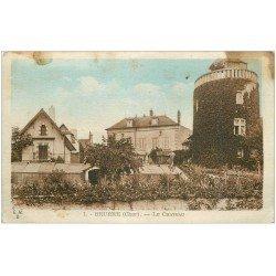 carte postale ancienne 18 BRUERE. Le Château Jardiniers sur la serre. En état