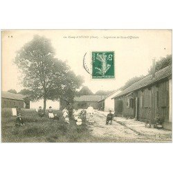 carte postale ancienne 18 CAMP D'AVORD. Logement de Sous-Officiers 1908