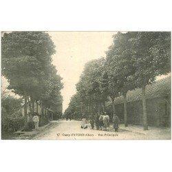 carte postale ancienne 18 CAMP D'AVORD. Rue Principale 1916