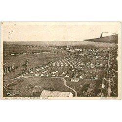 carte postale ancienne 18 CAMP D'AVORD. Vue aérienne 1937