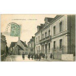 carte postale ancienne 18 CHARENTON. Hôtel de Ville 1921 écoliers