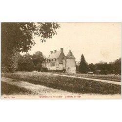 carte postale ancienne 18 Château de BAR. Environs de Nérondes vers 1920
