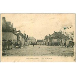 carte postale ancienne 18 CHATEAUMEILLANT. Place de la Mairie 1912