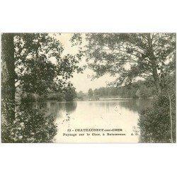 carte postale ancienne 18 CHATEAUNEUF-SUR-CHER. Paysage à Boissereau 1921