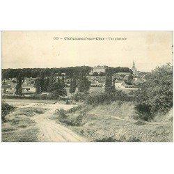 carte postale ancienne 18 CHATEAUNEUF-SUR-CHER. Vue générale