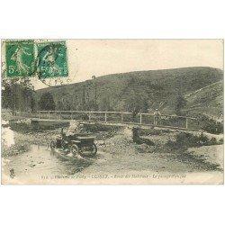 carte postale ancienne 03 CUSSET. Passage d'un Gué par automobile Route des Malavaux 1919