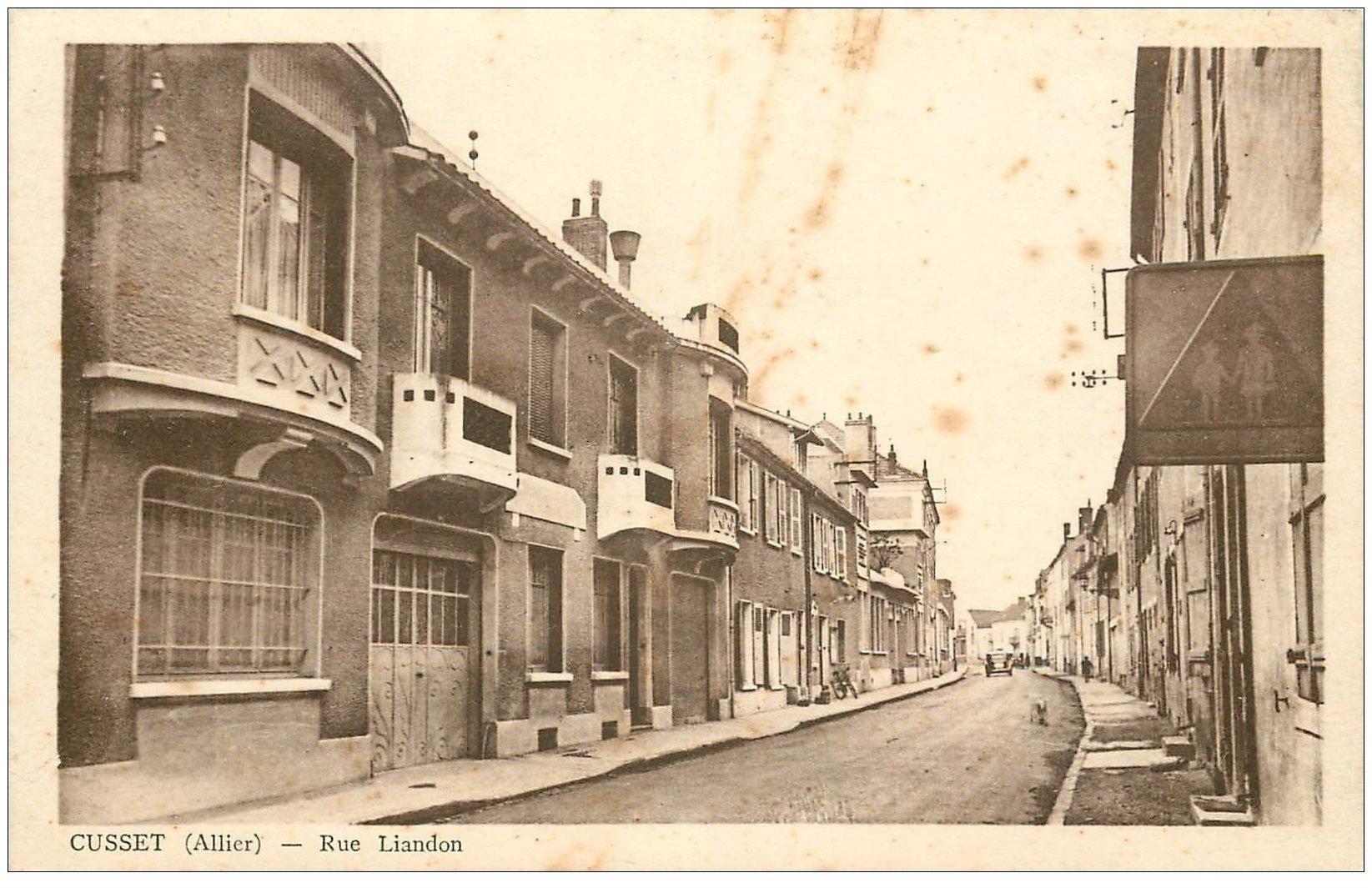 carte postale ancienne 03 CUSSET. Rue Liandon