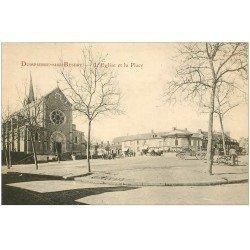 carte postale ancienne 03 DOMPIERRE-SUR-BESBRE. Eglise et Place