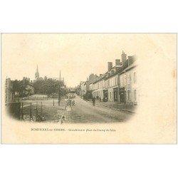 carte postale ancienne 03 DOMPIERRE-SUR-BESBRE. Grande Rue Place Champ de Foire. Carte pionnière vierge